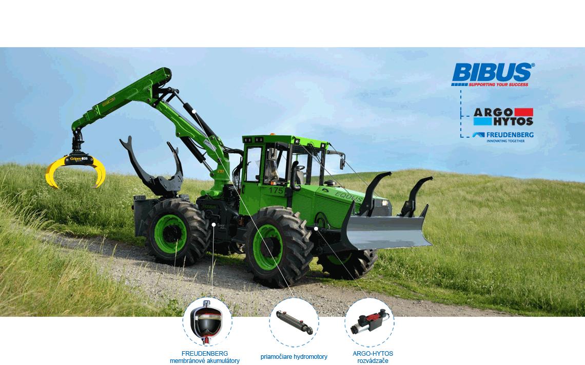 BIBUS SK lesné traktory Equus - Argo-Hytos, Freudenberg