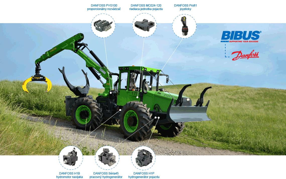 BIBUS SK lesné traktory Equus - Danfoss